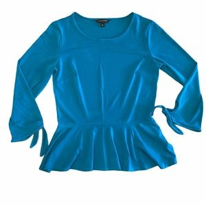 Banana Republic Dark Teal Peplum Top - Sz XS